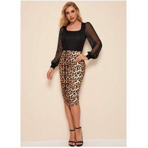 Cheetah Pencil Skirt NWOT